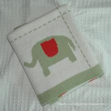 Manta de algodón suave hecho punto del bebé
