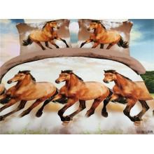 Многие лошади бегут, проектируют пододеяльник, покрывают покрывало наволочки