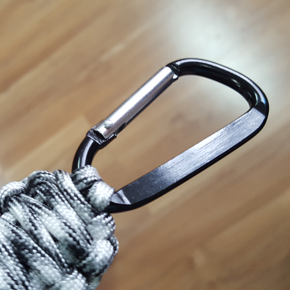Camping Paracord Safety Mosquetón Clip Keyring
