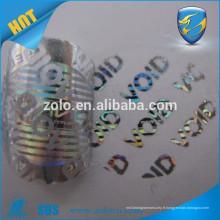 Création de nouveautés sur mesure étiquettes de hologramme d'hologramme pour animaux de vente / hologrammes matriciels personnalisés