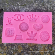 New Bag Crown Fondant Silicone Mold Cake Decoration Mold Ultra-Light Clay Chocolate Biscuit Mold
