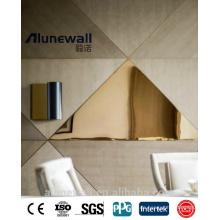 Alufenwall hochwertiger Aluminium-Goldspiegel für die Fassadenverkleidung