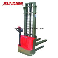 Apilador eléctrico del poder de la plataforma de la batería llena del walkie 1500kgs para el pasillo estrecho