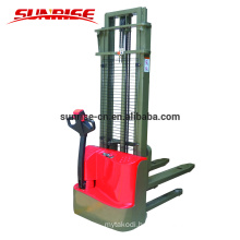 1500kgs walkie full battery electric pallet power stacker for narrow aisle