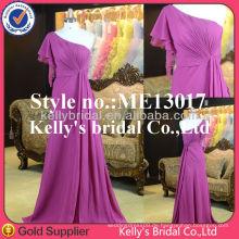 2014 European Style fließt ein Schulter Kaftan Kleid Brautjungfer Kleid