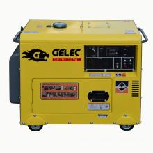 Générateur diesel silencieux refroidi par air monophasé à CA 5kva