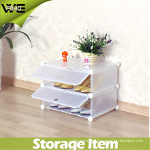 Dustproof Simple Plastic Shoe Organizer Storage Cabinet