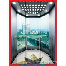 Observation de bruit faible ascenseur ascenseur avec verre de visite