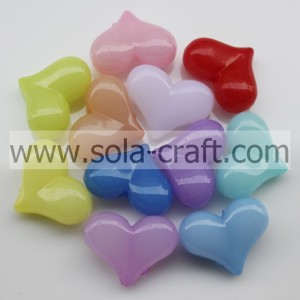 """10*12*22MM Jelly Colors  Earring Heart Beads Wholesale"""