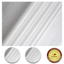 Precio 100% de la tela de materia textil de algodón blanco por el material de costura de la yarda para la tela africana de Bazin Riche de las mujeres