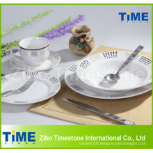 Porcelain Dinner Set with Stainless Steel Knife