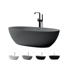 Luxury Customized Composite  Cast Oval Acrylic Solid Surface Artificial Resin Stone Sanitary Ware Hotel Freestanding Bathtub