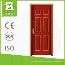 Puerta de madera de los hogares del pvc del diseño atractivo con buena calidad de los proveedores de China