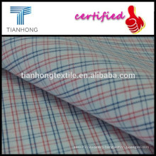 Custom high quality 40s cotton fabric/yarn dyed woven textile for shirt/thin check fabric for summer