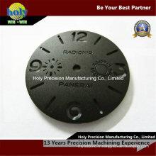 Usinage en aluminium de commande numérique par ordinateur de coutume avec la caisse de montre de gravure