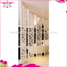 Mode einfacher weißer Raumteiler faltender Schirm