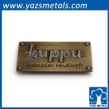 Custom brass badge furniture emblem