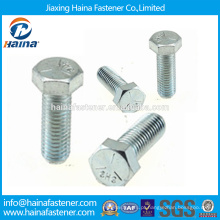 Em estoque fornecedor chinês melhor preço DIN933 aço carbono / aço inoxidável / zinco niquelado ZI-NI chapeado hex
