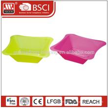 Praça ecológica cor personalizada tigela de salada plástica microwaveable material PP