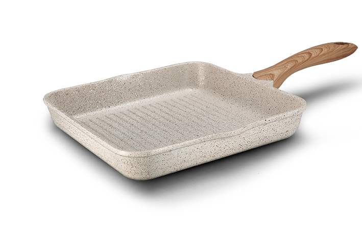 Square Aluminum Die-casting Fry Pan With Handle
