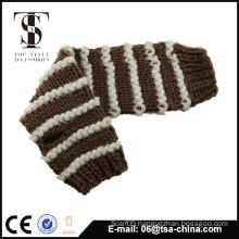 women winter Half finger knit gloves