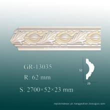 Moldura de painel de teto de PU de luz decorativa ecológica