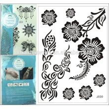 Nueva etiqueta engomada negra grande temporal temporal del tatuaje del diseño del cordón de la alta calidad 2015 para el cuerpo j030
