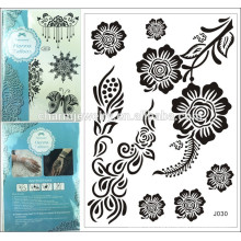New 2015 high quality temporary big sexy black lace design tattoo sticker for body j030