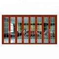 Porte coulissante accordéon en aluminium design de maison de luxe