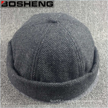 Custom Fashion Charcoal Jersey Fabric Dome Beanie Hat