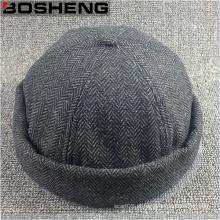Personalizado Moda Carvão Jersey tecido Dome Beanie Hat