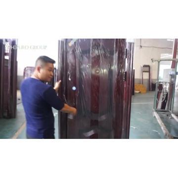 Porta exterior do metal do modelo da casa do projeto o mais atrasado direto da fábrica de PHIPULO, preço de porta de aço da segurança