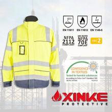 Соотвествуя en471 безопасности ХВ фр куртка с отражательная лента