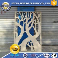 feuille de panneau de panneau de mousse de pvc de fonction décorative sculptée blanche