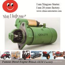 Máquinas de obras usadas Motor de arranque do motor diesel (QD1275)