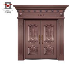 Buena casa panel prensado acero hierro puerta piel