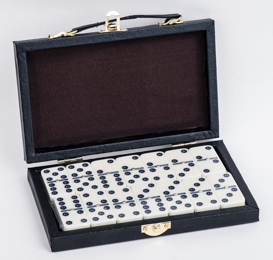 Domino Game Set In Leather Box