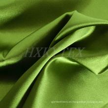 Tela de la mancha de poliéster altamente elástica con brillante para la moda