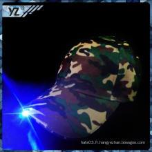 Fabrication en Chine chapeau / chapeau classiques flash personnalisé chapeau lumière LED chapeaux mode fournisseurs