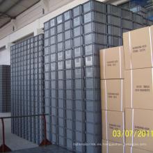 Envase de plástico apilable / caja de plástico para la industria logística