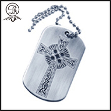 Antique dog tag designs pendant necklace
