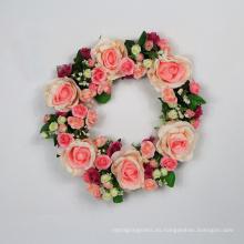 Guirnaldas florales artificiales de la nueva manera barata del estilo para la pared de la tienda
