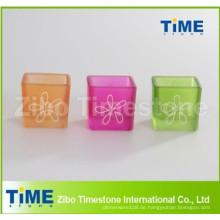Gesprayte quadratische Form Voltive Kerzenhalter