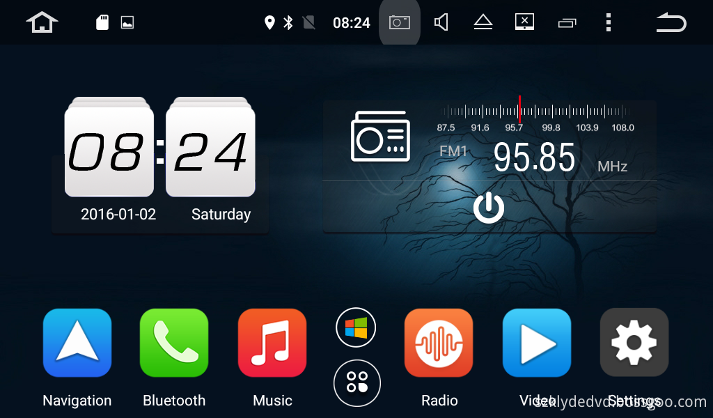 UI 1 OF android 6.0 car DVD for Hyundai SONATA 2015-2016