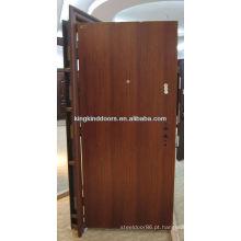 Nova porta principal aço inoxidável porta Design plano KKD-001 para forte segurança