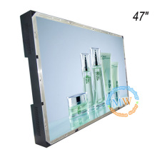 Frameless open frame 47 inch LCD monitor with HDMI VGA DVI input