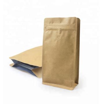 Flat Bottom Ziplock Bag Kaffeebeutel mit flachem Boden