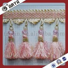 2015 forma la guarnición de las borlas de la tela de la ropa de la alta calidad que talla la cinta