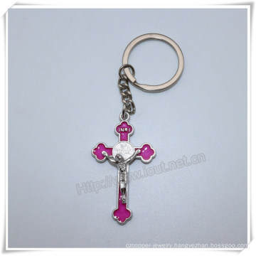 Wholesale Cross Alloy Metal Key Chain Personalized Religious Cross Key Chain (IO-ck106)