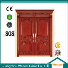 Puerta de seguridad de madera sólida del diseño de la puerta principal para la nueva casa / chalet